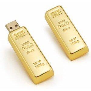 זיכרון נייד מועצב כאונקיית זהב
