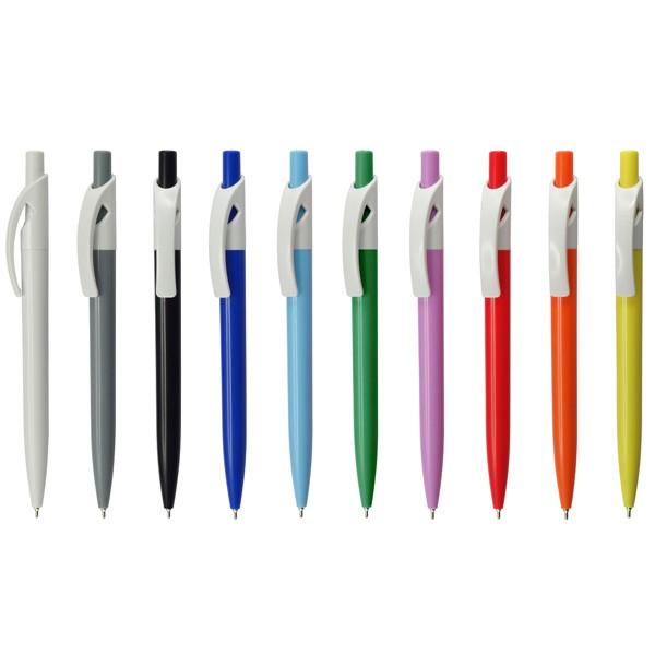 עט ג'ל קליפס פלסטיק לבן