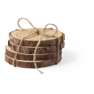 תחתיות לכוסות מעץ