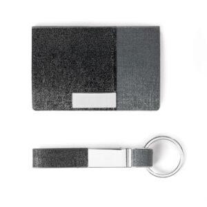 סט מחזיק מפתחות ונרתיק לכרטיסי ביקור