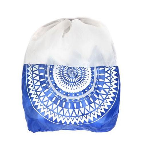 מגבת חוף עגולה עם תיק תואם