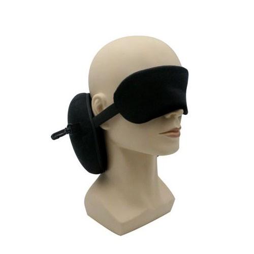 כרית טיסה משולבת כיסוי עיניים